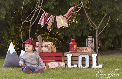 Lumberjack 1st Birthday Photoshoot Pictures
