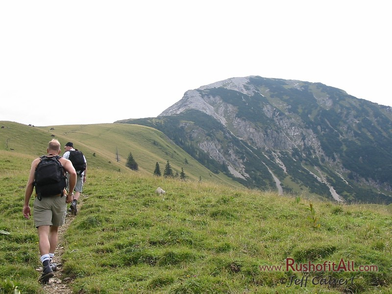Phil and Keith on trail from Zipfelsalpe to Bschieser.  Bschieser in distance.