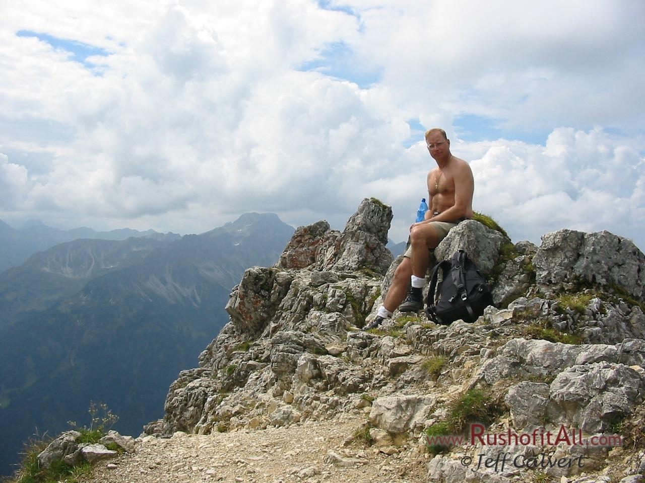 Phil on Ponten summit.
