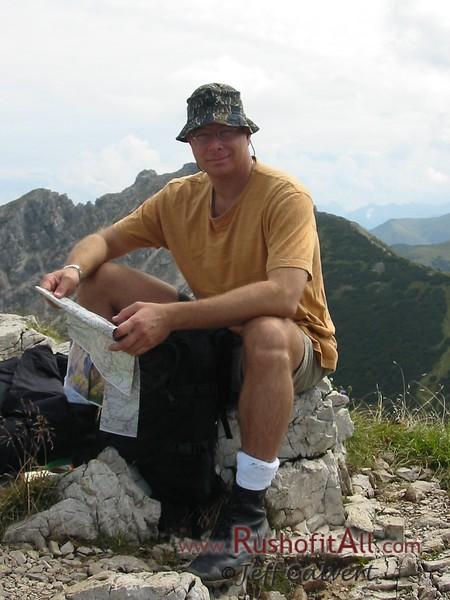 Phil at Bschieser summit.