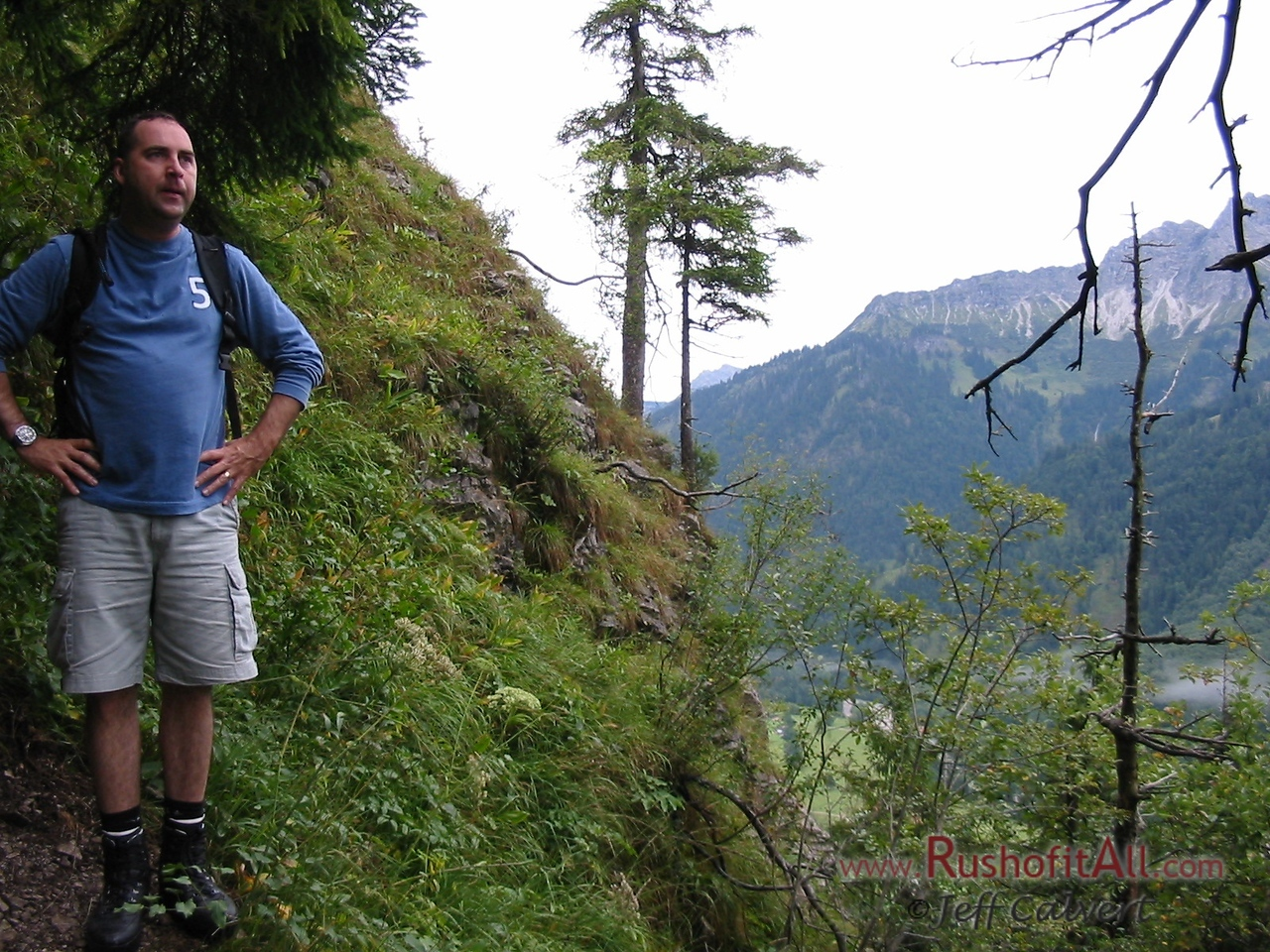 Keith on trail from Hinterstein to Zipfelsalpe.