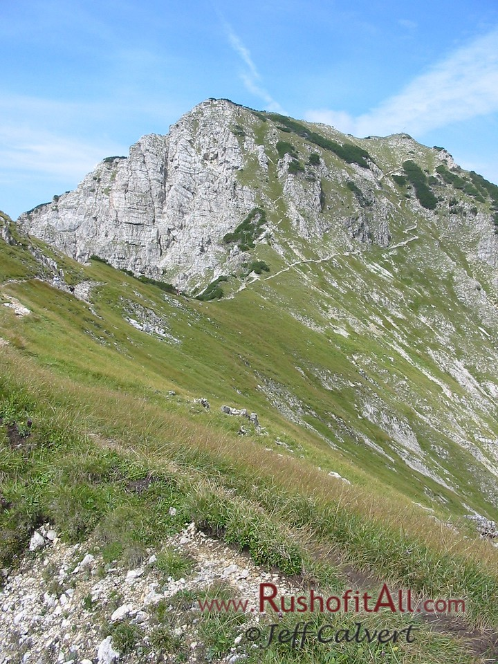 On trail from Bschieser to Ponten.  Ponten in distance.