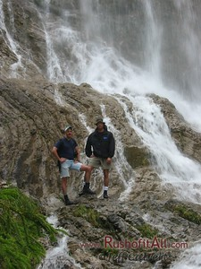 Phil and I at waterfall above Hinterstein.