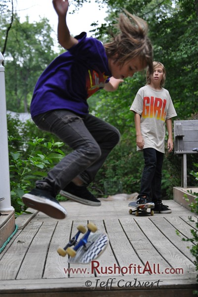 Skateboarding - Lucas and Friends, July 2009