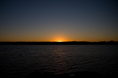 Sunset on Lake Thunderbird State Park, Norman Oklahoma