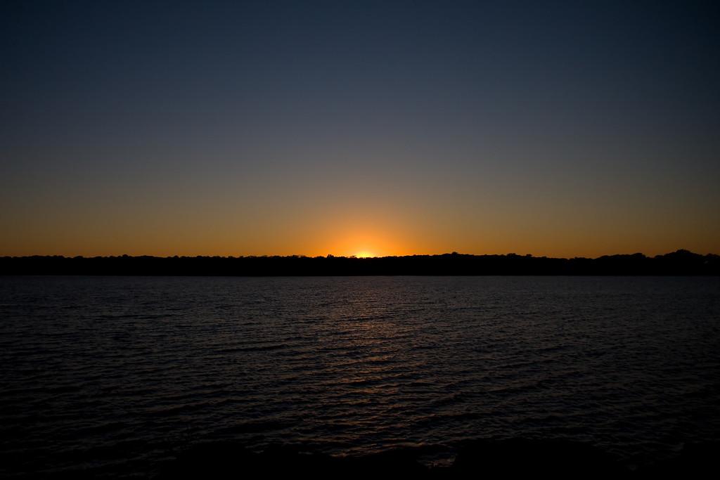 Sunset on Lake Thunderbird State Park, Norman Oklahoma