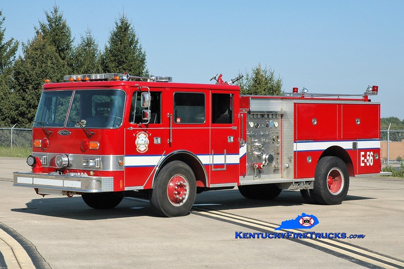 Blue Grass Airport Regional ARFF Training Center  Engine 56<br /> x-Lexington, KY <br /> 1986 Pierce Arrow 1250/500<br /> Greg Stapleton