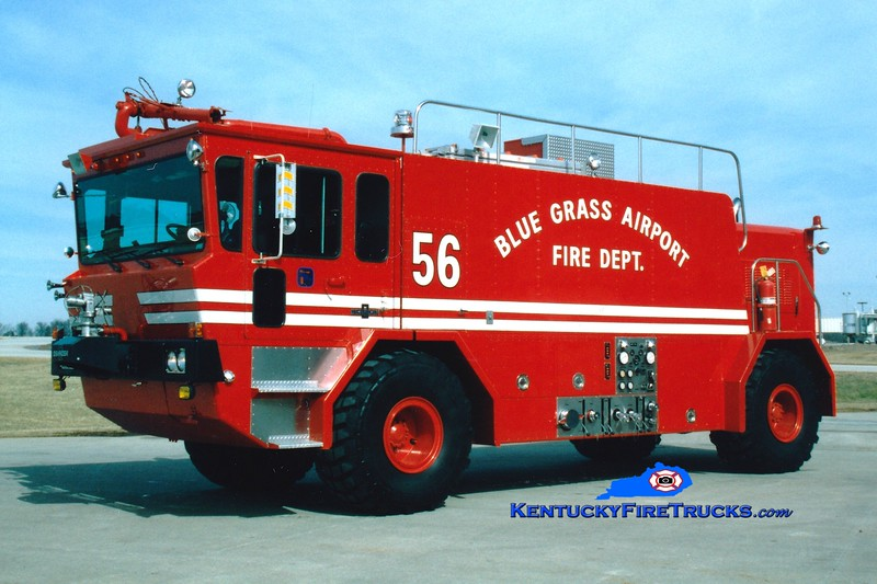 <center> RETIRED <br> Bluegrass Airport Crash 56 <BR> 1986 Oshkosth T-1500 1000/1500/195F  <br> Greg Stapleton photo <BR> </center>