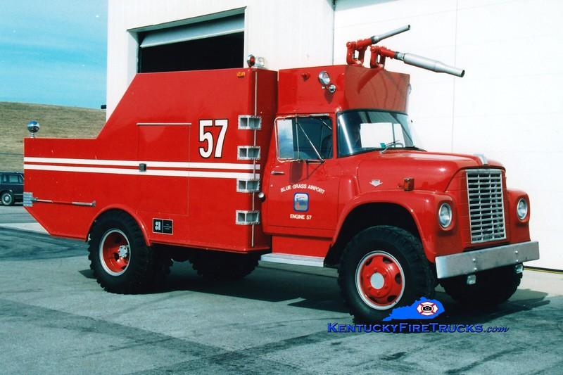<center> RETIRED <br> Bluegrass Airport Crash 57 <BR> 1970 International Loadstar 4x4/Ansul/Marion 1350PK/200F <br> Greg Stapleton photo <BR> </center>