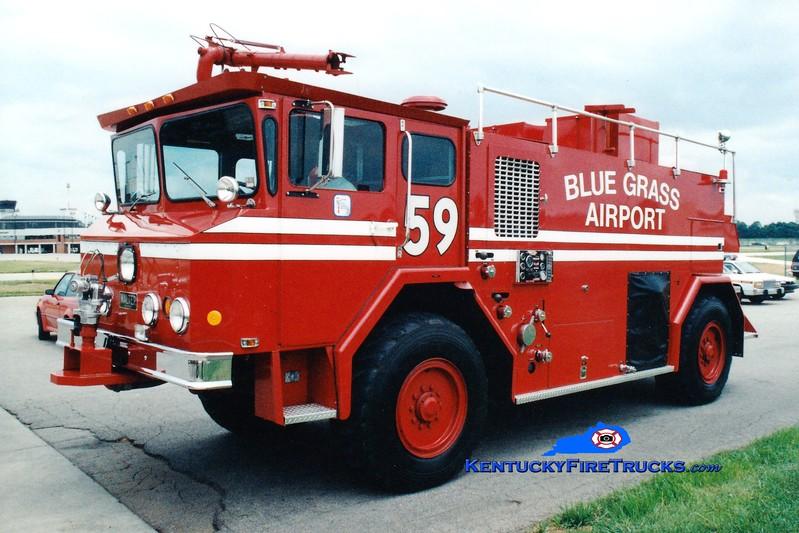 <center> RETIRED <br> Bluegrass Airport Crash 59 <BR> 1976 Walter 1000/1800/200F/1987 CRES <br> Greg Stapleton photo <BR> </center>