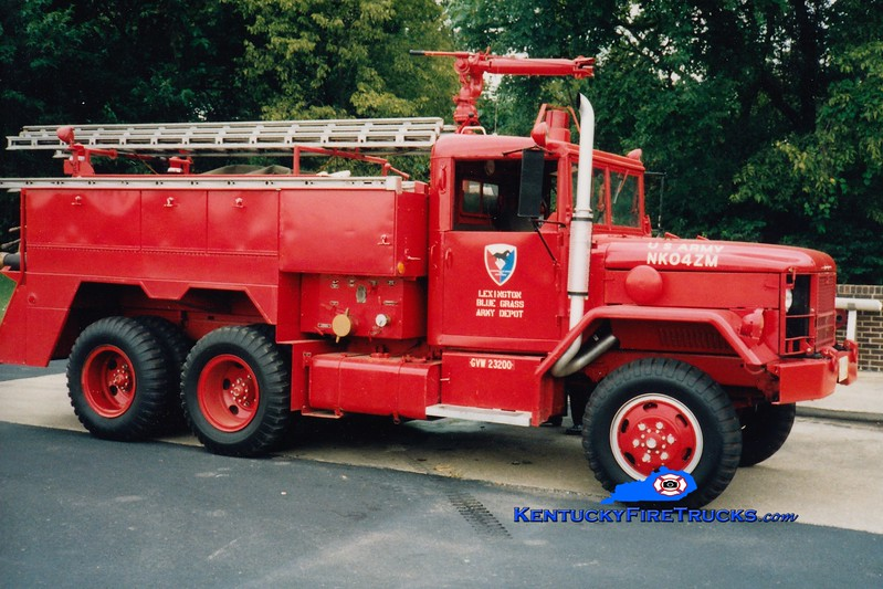<center> RETIRED <br> Lexington-Bluegrass Army Depot  Engine 1 <br> 1973 AM General/American Air Filter 750/400/40 <br> Greg Stapleton photo </center>