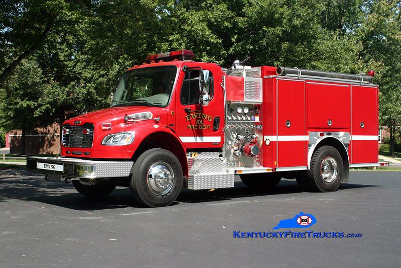 <center> Ewing Engine 756  <br> 2005 Freightliner M2-106/E-One 1250/1000 <br> Kent Parrish photo </center>