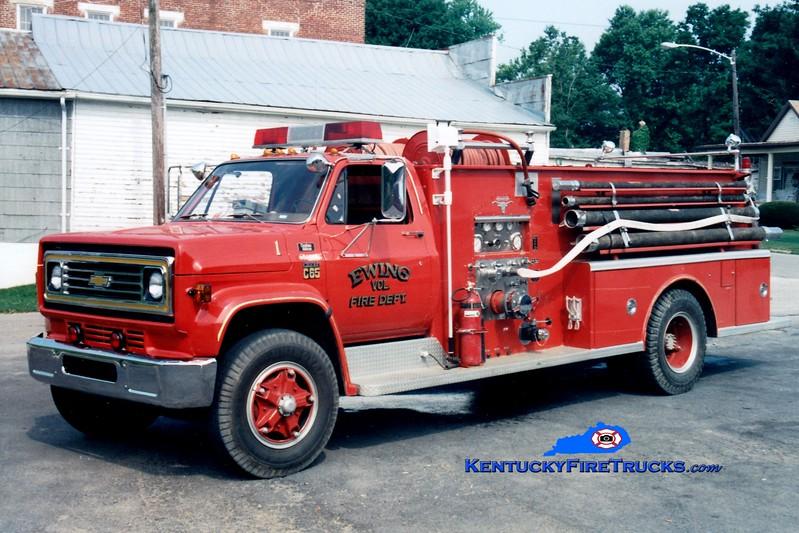 <center> RETIRED <br> Ewing Engine 1  <br> 1977 Chevy C70/Allegheny 750/750 <br> Greg Stapleton photo <br> </center>