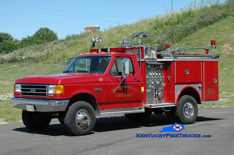 Flemingsburg  Pumper 3<br /> 1990 Ford F-350 4x4/Allegheny 300/300<br /> Greg Stapleton photo