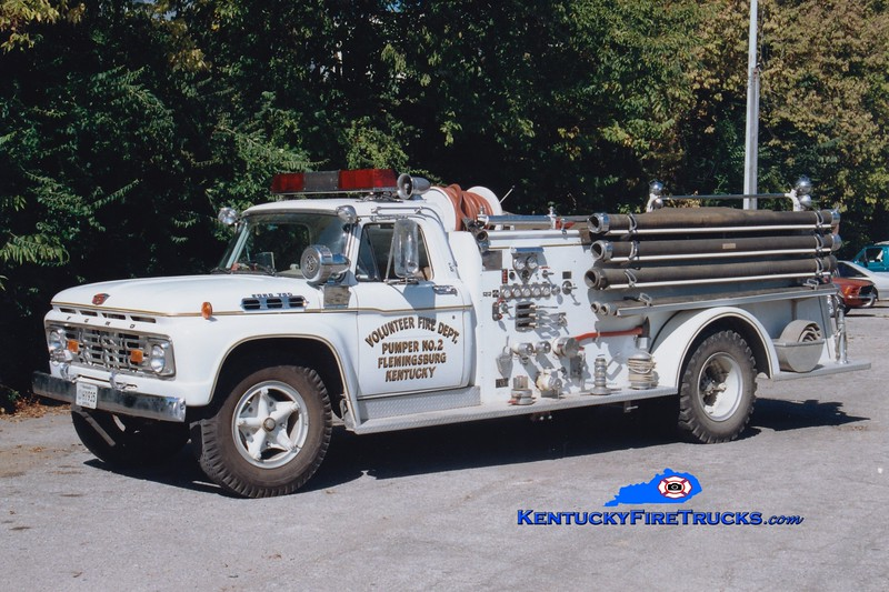 <center> RETIRED <br> Flemingsburg  Pumper 2  <br> 1965 Ford F-750/American 750/500 <br> Greg Stapleton photo </center>
