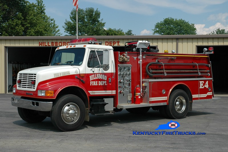 <center> Hillsboro  Engine 454  <br> 1992 International 4900/Allegheny 450/1000 <br> Greg Stapleton photo </center>