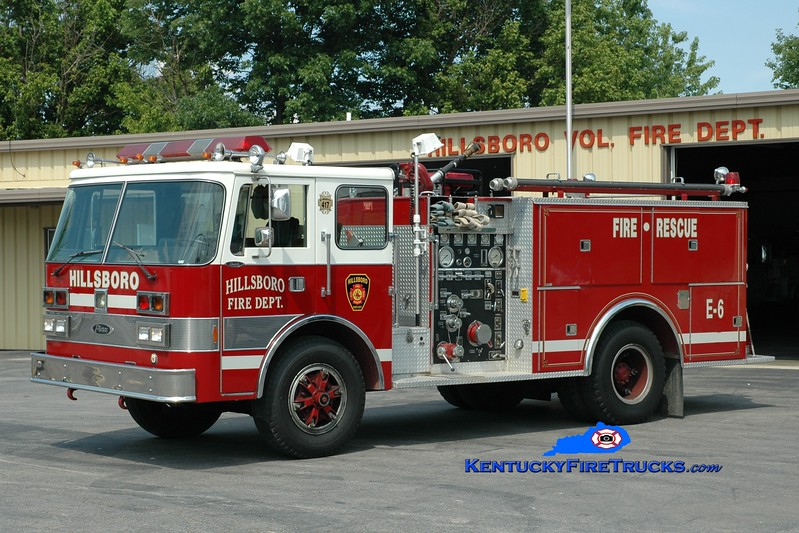 <center> Hillsboro  Engine 456  <br> x-Fenton Charter Twp, MI <br> 1982 Pierce Dash 1000/500 <br> Greg Stapleton photo </center>