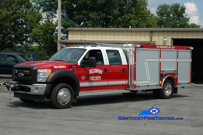 <center> Hillsboro  Rescue 452  <br> 2011 Ford F-550 4x4/Wynn CAFS/200/10 <br> Greg Stapleton photo <br> </center>