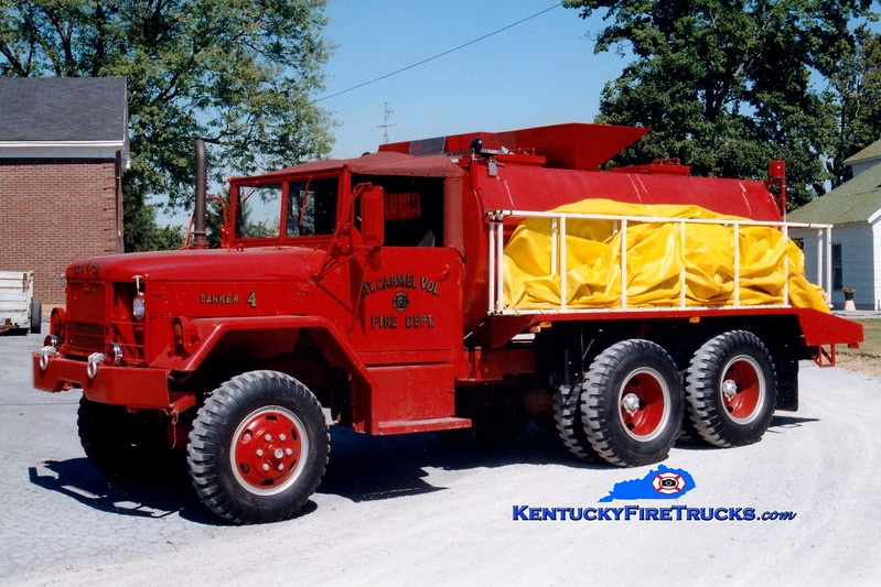 <center> RETIRED <br> Mount Carmel  Tanker 4  <br> x-US Army <br> 1981 AM General 6x6/Local 250/1800  <br> Greg Stapleton photo </center>