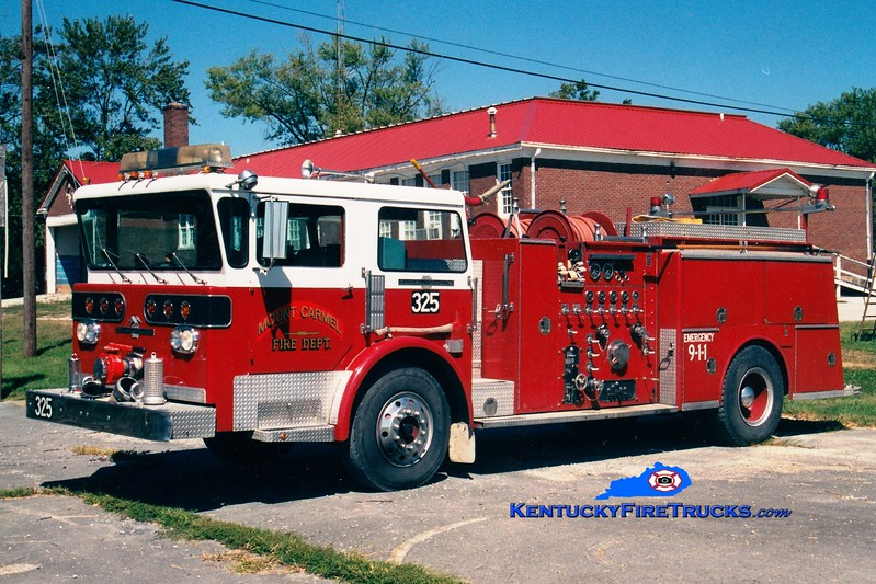 <center> RETIRED <br> Mount Carmel  Engine 3  <br> x-Coeur D'Alene, ID <br> 1977 American LaFrance Pioneer III 1250/750 <br> Greg Stapleton photo </center>