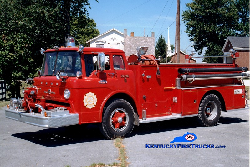 <center> RETIRED <br> Mount Carmel  Engine 8  <br> x-Jefferson Twp, OH <br> 1967 Ford C/American 750/500 <br> Greg Stapleton photo </center>