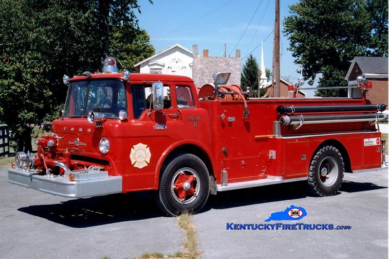 <center> RETIRED <br> Mount Carmel  Engine 8  <br> x-Jefferson Twp, OH <br> 1967 Ford C/American 750/500 <br> Greg Stapleton photo </center>