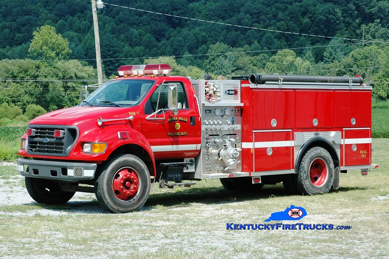 <center> Muses Mills  Engine 1  <br> 1999 Ford F-750/E-One 1250/1000  <br> Greg Stapleton photo </center>