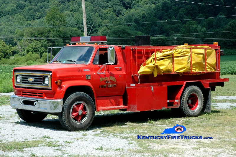 <center> Muses Mills  Tanker 2  <br> x-Ewing, KY <br> 1973 Chevy C65/Local 250/1350 <br> Greg Stapleton photo </center>