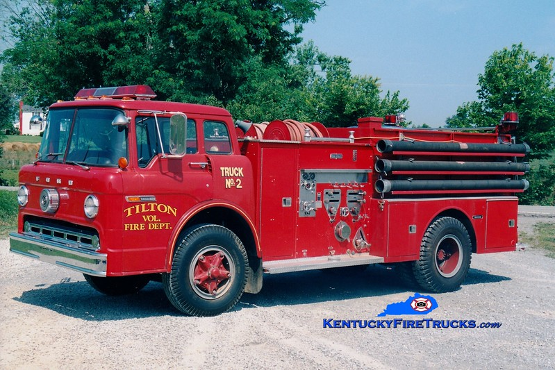 <center> RETIRED <br> Tilton  Engine 2  <br> x-Firebrick, KY <br> 1972 Ford C/Ward LaFrance 1000/750 <br> Greg Stapleton photo </center>