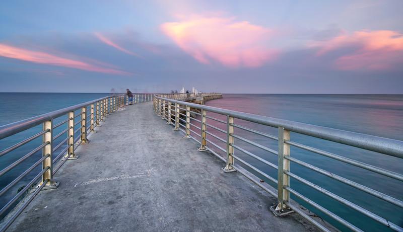 Sebastian Inlet sunset looking east.