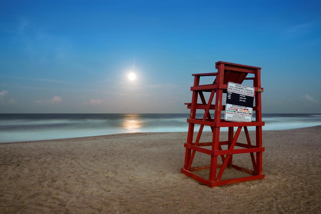 Moonrise over South Cocoa Beach.
