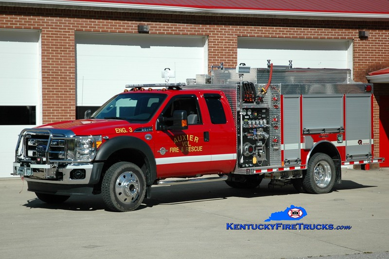 Auxier  Engine 3<br /> 2015 Ford F-550 4x4/Rosenbauer 750/300<br /> Greg Stapleton photo