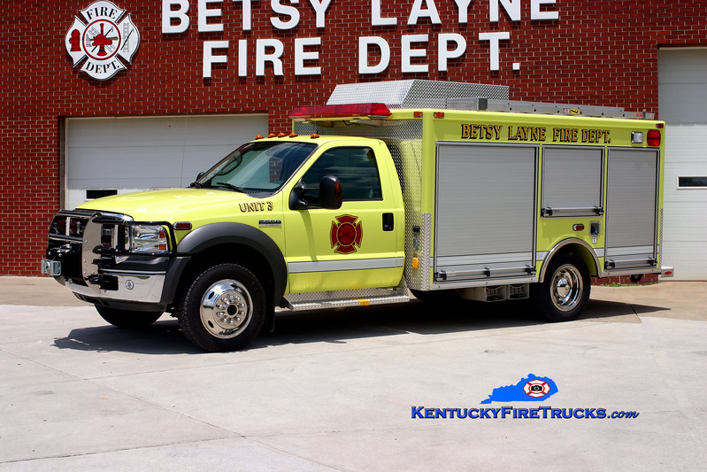 <center> Betsy Layne  Rescue 3 <br> 2005 Ford F-550 4x4/Pierce Contender <br> Kent Parrish photo </center>