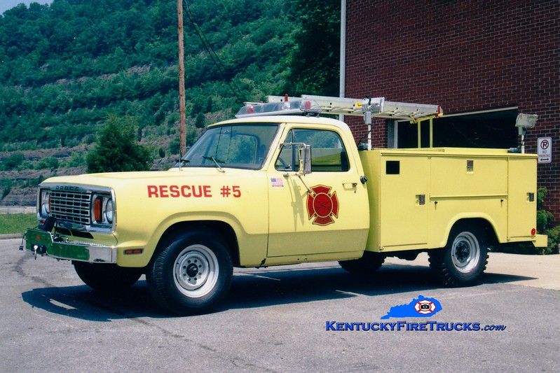 <center> RETIRED <br> Betsy Layne  Rescue 5 <br> 1978 Dodge/Stahl <br> Greg Stapleton photo </center>