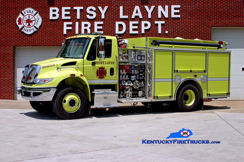 <center> Betsy Layne  Engine 1 <br> 2008 International 4400/Pierce 1250/750/CAFS-30 <br> Kent Parrish photo </center>