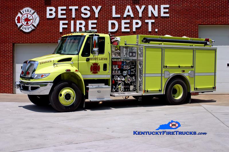 <center> Betsy Layne  Engine 1 <br> 2008 International 4400/Pierce 1250/750/CAFS-30 <br> Kent Parrish photo </center>