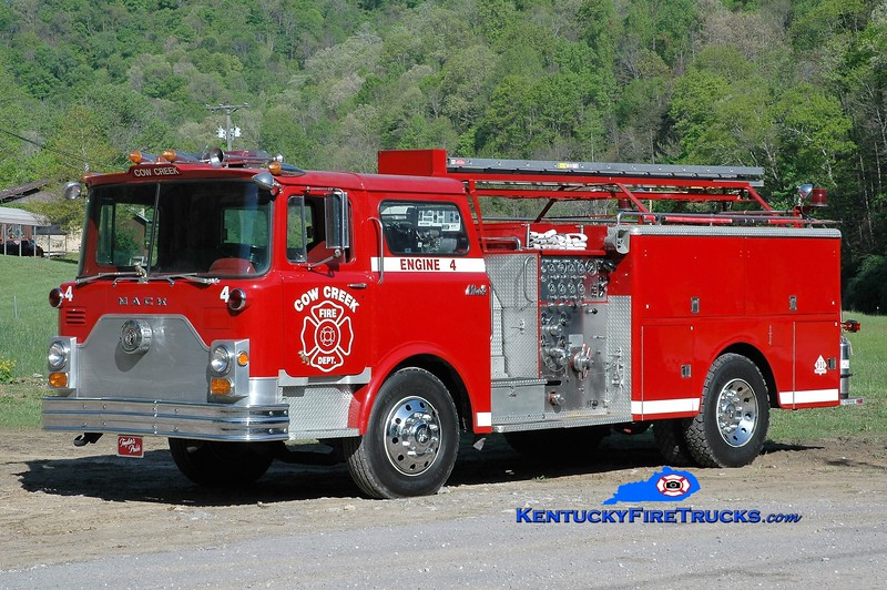 Cow Creek  Engine 4<br /> x-Prestonsburg, KY<br /> 1969 Mack CF 1000/500<br /> Greg Stapleton photo