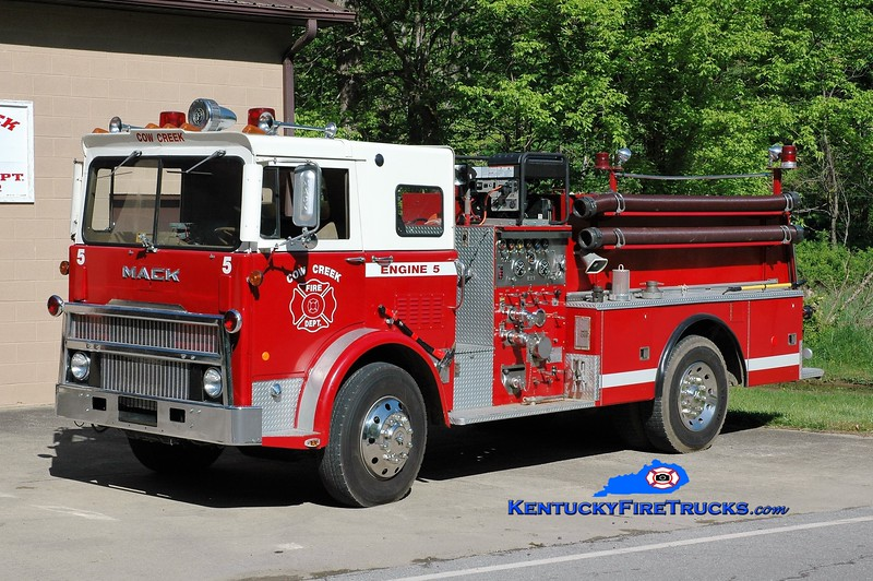 Cow Creek  Engine 5<br /> x-Roanoke County, VA<br /> 1978 Mack MB/Hamerly 1000/500<br /> Greg Stapleton photo