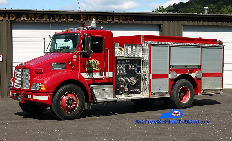 <center> David Area  Engine 1 <br> 2007 Kenworth T-300/Pierce 1250/1000 <br> Kent Parrish photo </center>