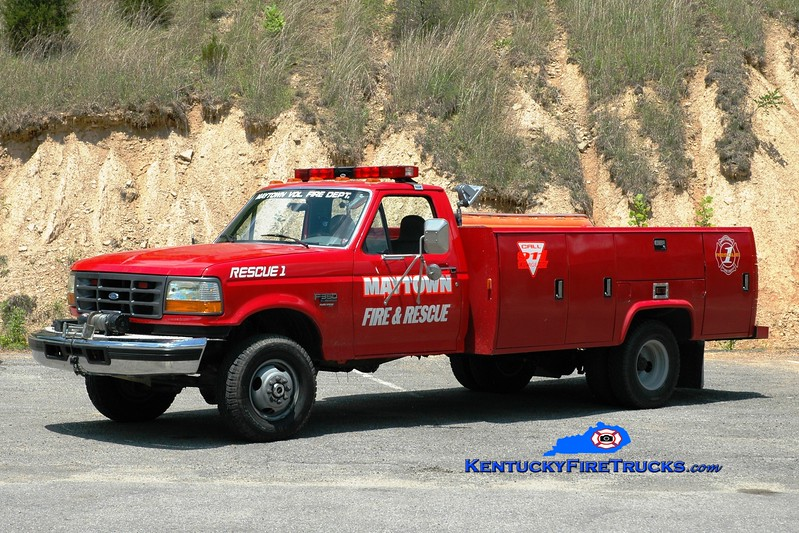 <center> Maytown  Rescue 1 <br> 1995 Ford F-350 4x4/Stahl <br> Greg Stapleton photo </center>