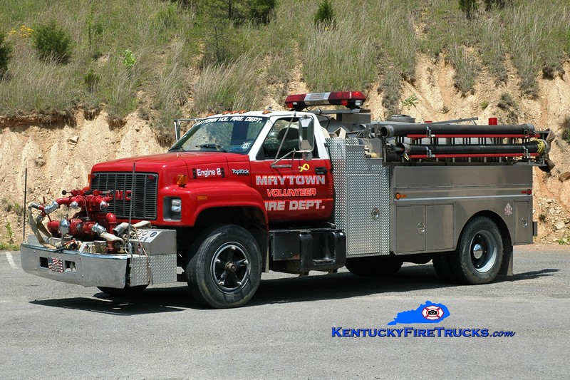 <center> Maytown Tanker 2 <br> 1995 GMC TopKick/Midstate Tank 1000/1200 <br> Greg Stapleton photo </center>
