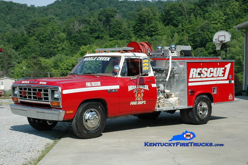 <center> Middle Creek Rescue 1 <br> 1982 Dodge Ram/American  300/300<br> Greg Stapleton photo </center>