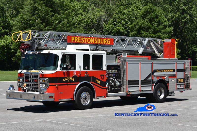 Prestonsburg Ladder 1<br /> 2009 Spartan Gladiator/Rosenbauer-Central/RK 1500/500/75'<br /> Greg Stapleton photo