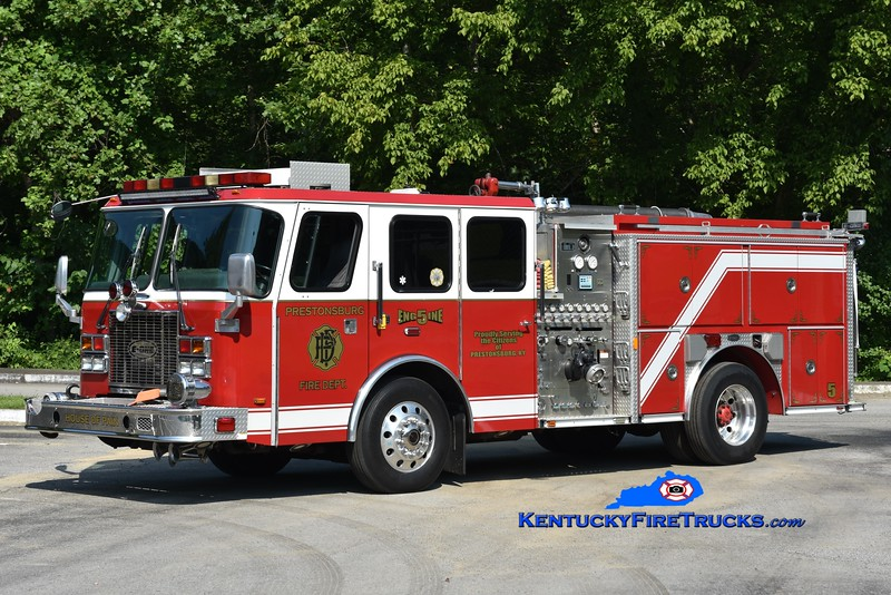 Prestonsburg  Engine 5<br /> x-Washington DC and E Bernstadt, KY<br /> 2000 E-One Cyclone II/2014 Local 1250/500<br /> Greg Stapleton photo