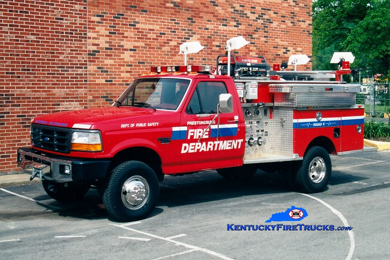 <center> REFURBISHED <br> Prestonsburg  Squad 6 <br> 1996 Ford F-350 4x4/1978 City Fire Equipment 500/250 <br> Greg Stapleton photo </center>