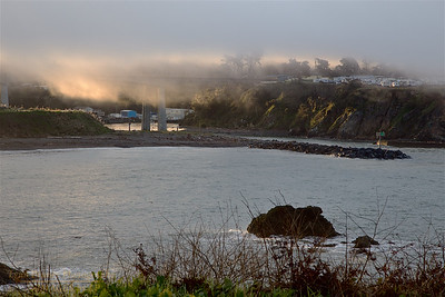 FB-190316-0003 Noyo Harbor entrance shrouded in fog