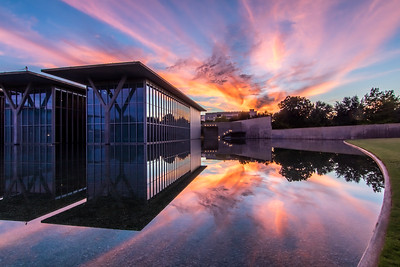 Modern Art Museum at Sunset