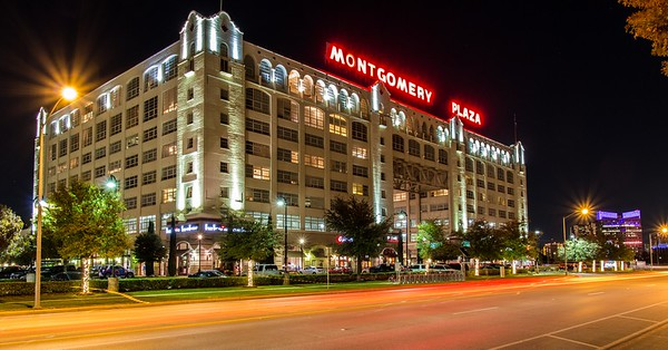 Montgomery Plaza at Night