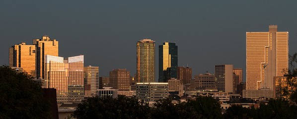 Fort Worth Skyline at Dusk