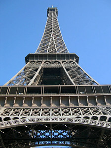 The Eiffel Tower was built in 1889 as part of the Paris World's Fair. It's a lot bigger than it looks -- in fact, it was the tallest structure in the world until the Empire State Building opened in 1931.